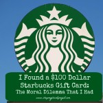 I Found A $100 Starbucks Card And The Moral Dilemma that I Had