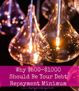 $500 Should Be Your Debt Repayment Minimum
