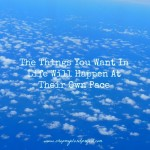 The Things You Want In Life Will Happen At Their Own Pace