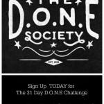 The D.O.N.E. Society-Spread the Word!