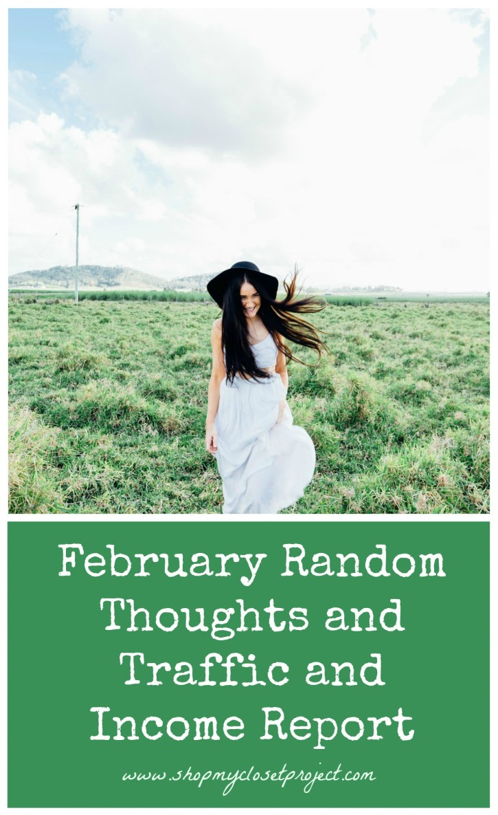 February Random Thoughts and Traffic and Income Report